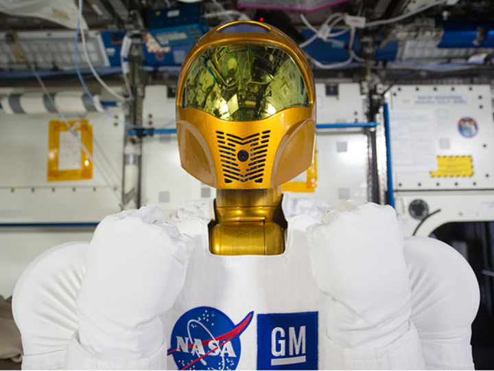 robonaut2 closeup face