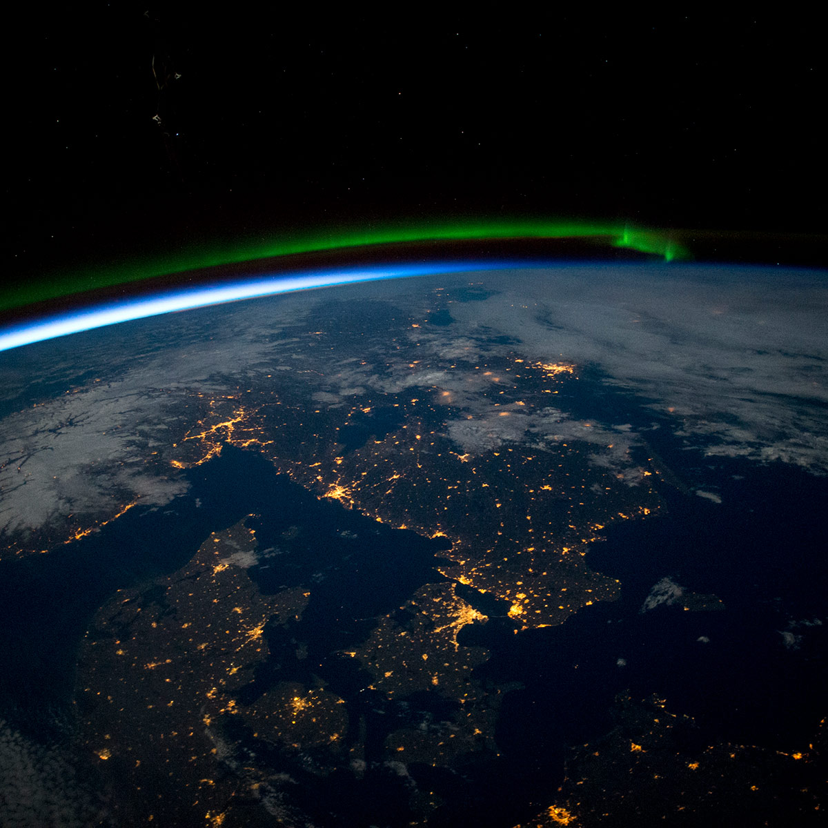 scandinavia from space