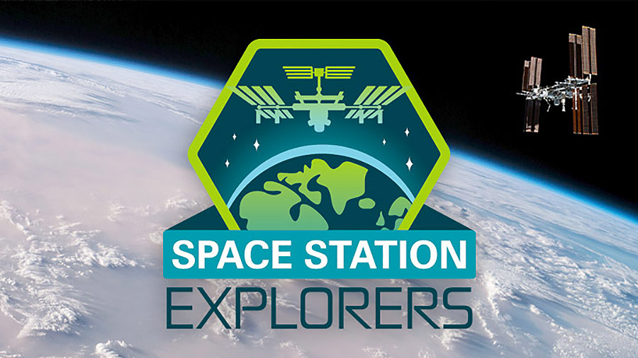 space station explorers banner