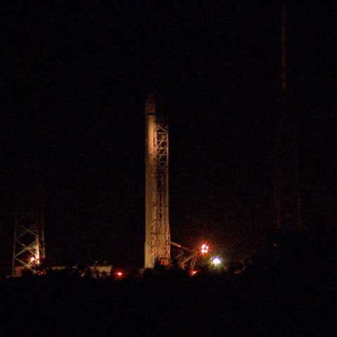 spacexcrs9 launchpad night