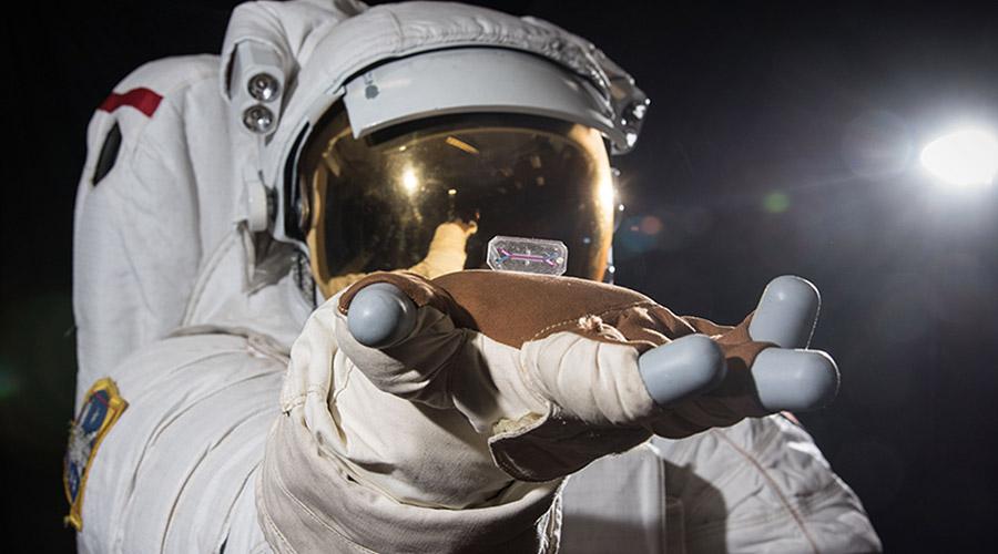 tissue chip astronaut hand