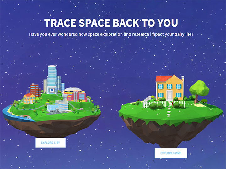 trace space back home